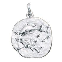 Anhänger Sternzeichen Fische 925 Silber matt Sternzeichen Anhänger