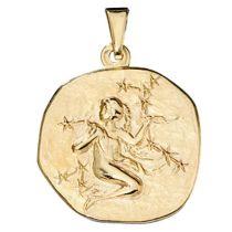 Anhänger Sternzeichen Jungfrau 333 Gold Gelbgold