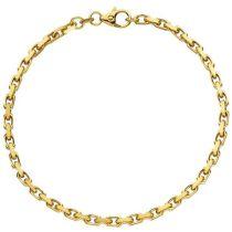 Anker Armband 585 Gelbgold diamantiert 21 cm - 3 mm Goldarmband
