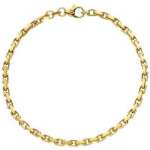 Ankerarmband 333 Gelbgold diamantiert 21 cm 3 mm Armband