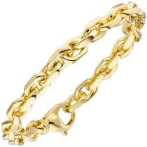 Ankerarmband 585 Gold Gelbgold 21 cm Armband Goldarmband Karabiner