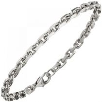 Ankerarmband 585 Gold Weißgold diamantiert 21 cm Armband