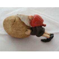 Arbeiter-Wichtel mit einem Stein 10 cm