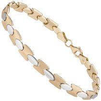 Armband 333 Gold Gelbgold bicolor 19 cm Goldarmband