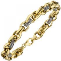 Armband 375 Gold Gelbgold 36 Diamanten Brillanten 20 cm