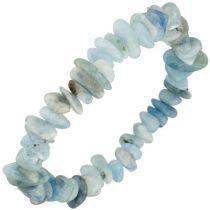 Armband Aquamarin hellblau blau 19 cm Aquamarinarmband