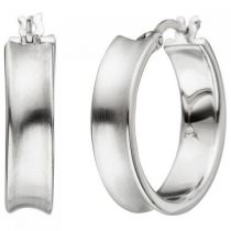 Creolen 925 Sterling Silber matt 20 mm Ohrringe Silbercreolen