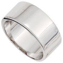 Damen Ring 10,4 mm breit 925 Sterling Silber rhodiniert Silberring