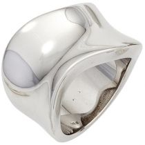 Damen Ring 14,3 mm breit 925 Sterling Silber rhodiniert Silberring