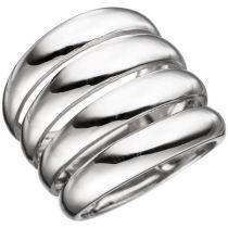 Damen Ring 21 mm breit aus 925 Sterling Silber rhodiniert Silberring