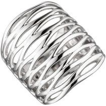 Damen Ring 24,6 mm breit 925 Sterling Silber rhodiniert Silberring