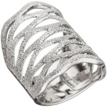 Damen Ring 26 mm breit 925 Sterling Silber Silberring
