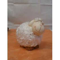 Dekofigur Schaf aus Keramik, 16 cm