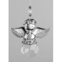 Dekohänger Engel aus Acryl in Silber 13 cm