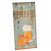 DIO Wandbild aus Metall always cold Beer, 20 x 40 cm