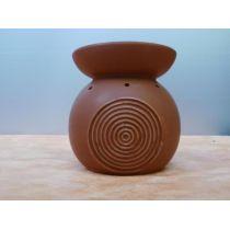 Duftlampe aus Keramik in Braun, 15,5 cm