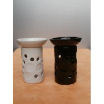 Duftlampe black and white, 15,5 cm