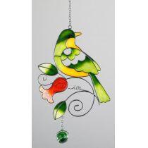 Fensterdeko Vogel zum aufhängen tiffany Art 24 cm