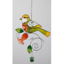 Fensterdeko Vogel zum aufhängen, tiffany Art 24 cm