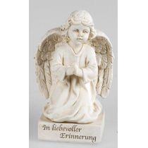 formano Deko Engel in Creme Grau aus Kunststein als Grabdeko, 11 cm