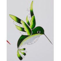 formano Fensterschmuck Eisvogel aus Tiffanyglas in Grün, 25 cm