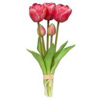 formano Kunstblume Tulpenbündel, rot, 5 Stück, 25 cm