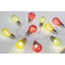 formano LED Lichterkette mit 10 Acryl Birnen, bunt, 150 cm