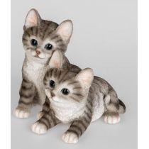 formano Tierfigur Katzenpärchen in Weiß Schwarz, 19 cm