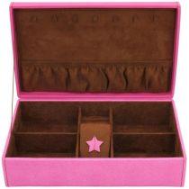 Friedrich Lederwaren Schmuckkoffer BACCARA pink rosa Uhrenfach