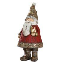 GILDE Dekofigur Nikolaus elegance braun rot gold, 8x8x16 cm