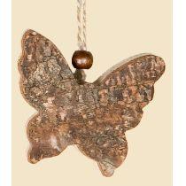 GILDE Dekohänger Schmetterling aus Naturholz im Birken Design, 15 cm