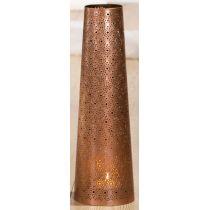 GILDE Metall-Leuchter Punkte, konisch, in Kupfer 14 x 45 cm