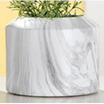 GILDE Moderne Vase Marble aus Keramik, 21 x 21 x 17 cm