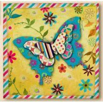 GILDE Wanddeko Wandbild Butterfly 3D Effekt, 60 x 60 cm