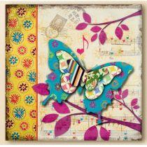 GILDE Wanddeko Wandbild Butterfly mit 3D Effekt, 60 x 60 cm