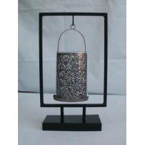 Kerzenhalter aus Metall und Glas, 33,5 cm hoch