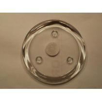 Kerzenteller aus Klarglas, rund 14 cm