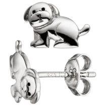 Kinder Ohrstecker Hund 925 Sterling Silber Ohrringe Silberohrringe