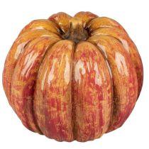 Kürbis Deko Zierkürbis orange 16 cm für innen und außen