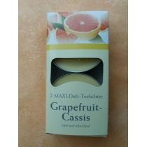 Maxi-Teelichter Grapefruit 2 Stück