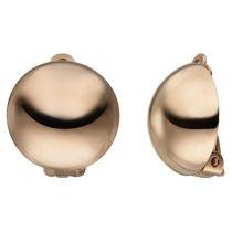 Ohrclips 925 Sterling Silber rotgold vergoldet Ohrringe
