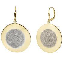 Ohrhänger 925 Silber bicolor vergoldet Ohrringe Boutons