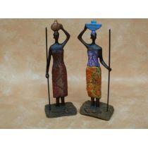Skulpturen zwei Massai-Frauen, 18 cm hoch