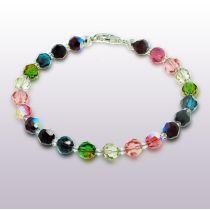 Armband multicolor bunt aus 6mm Swarovski® Kristallperlen