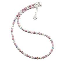 Feines Collier aus rosa Kristallperlen von Swarovski®