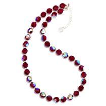 Halskette rot aus 8mm Kristallperlen von Swarovski®