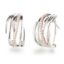 Neu: Halb-Creolen Stecker Omegaverschluss 925 Silber Ohrringe