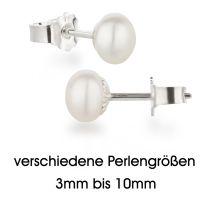Neu: Perlen Ohrstecker 925 Silber mit Süßwasser Zuchtperlen