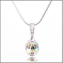 Swarovski® Kristall Tear Drop Anhänger mit 925 Silberkette