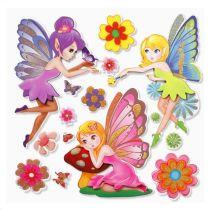 3 D Sticker Elfen 2  XXL 30x30 cm